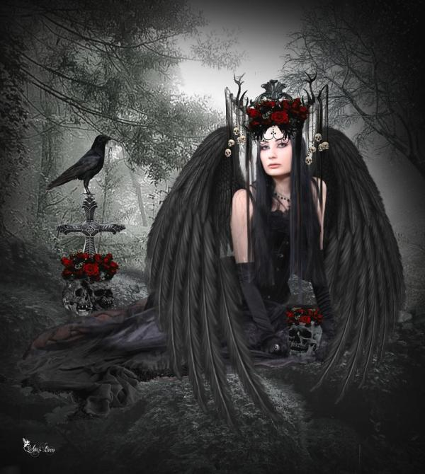 Dark Gothic Angel Art