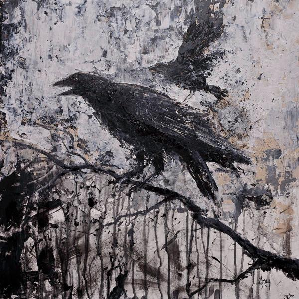 Gothic Art Raven Paintings