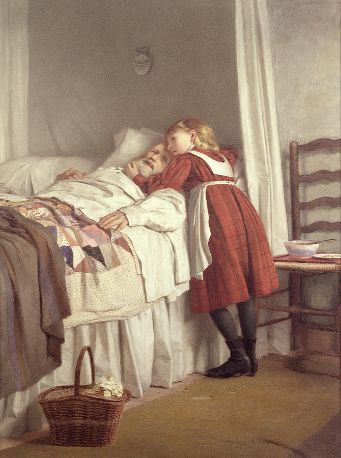 Grandfathers Little Nurse Painting by James Hayllar