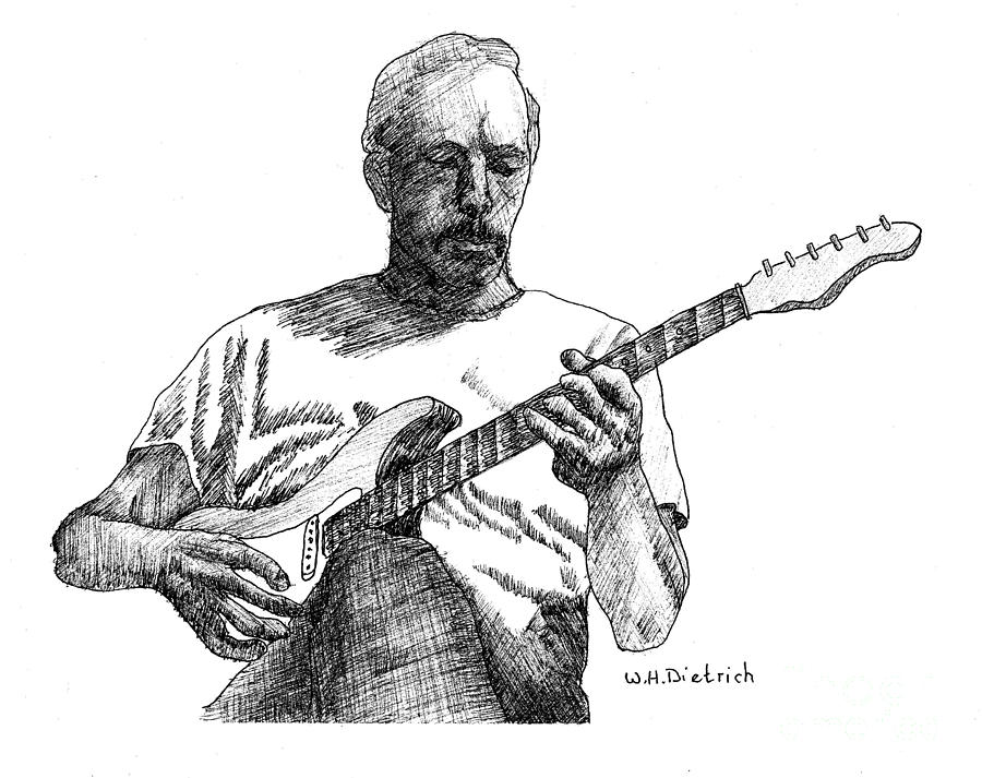 Guitarist Drawing by William Dietrich