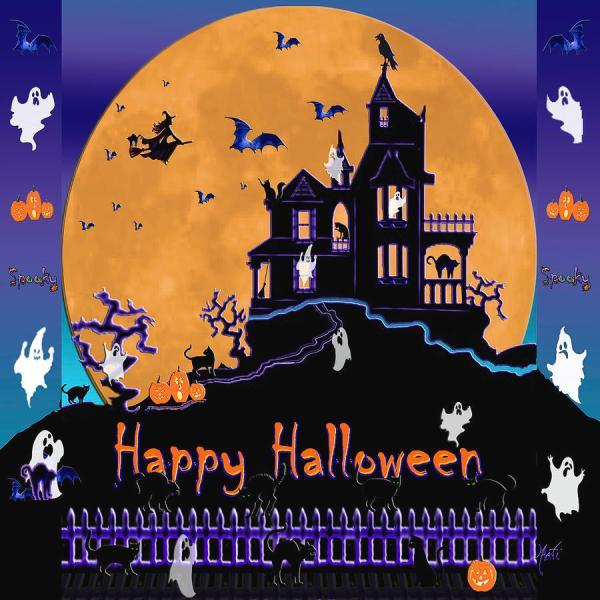 Halloween Haunted House Digital Art Michele Avanti