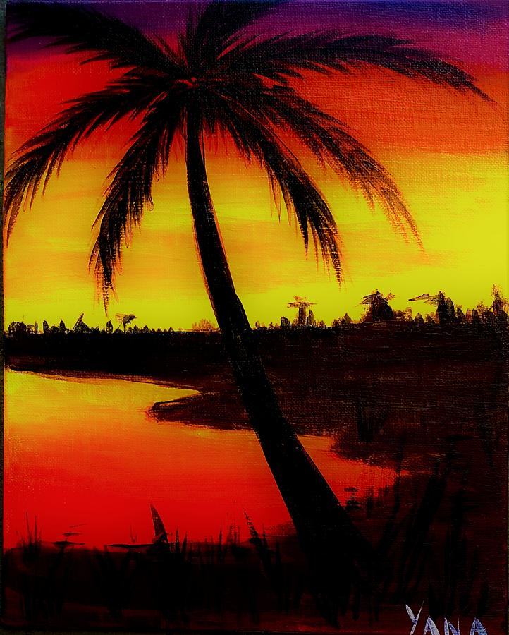 The Gallery For Gt Hawaiian Sunset Painting