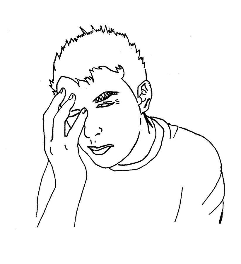 Headache Digital Art by Megan Connell