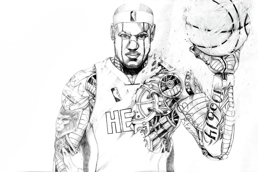 Heart In The Game Drawing by Chivas Davis