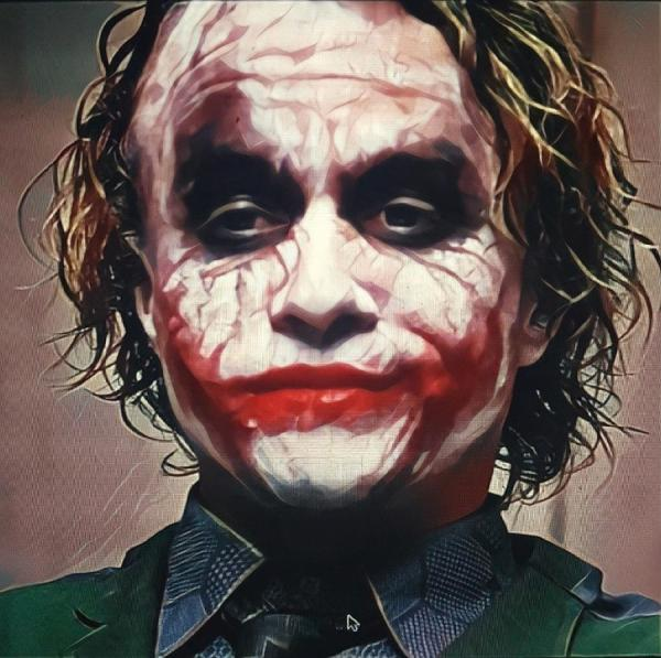 Heath Ledger Joker Thinking Digital Art Dreamlab Exhibit