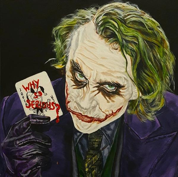 Heath Ledger Joker Painting
