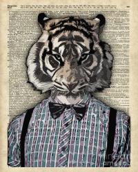 Hipster Tiger Plaid Shirt Vintage Dictionary Art Beatnik ...