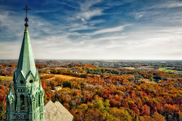 holy hill - wisconsin fall landscape