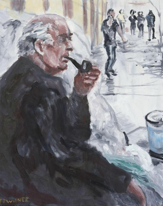Homelessness Painting Homeless Man By Jonathan Wilner