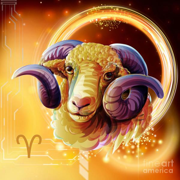 Aries Zodiac Sign Art
