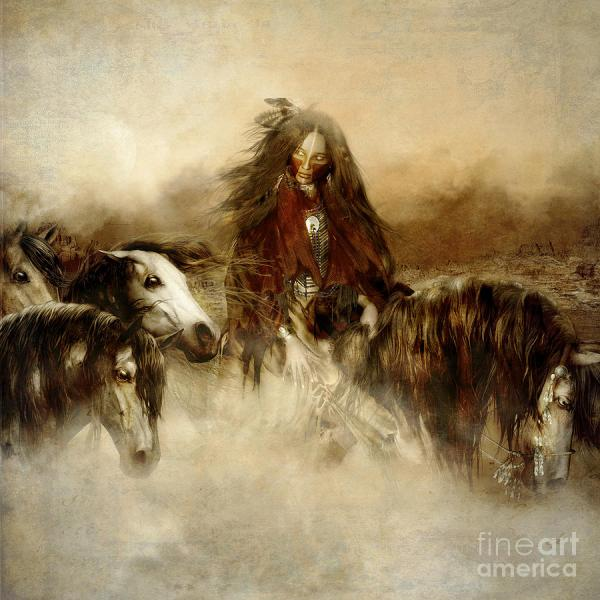 Native American Spirit Horse Art Drawings