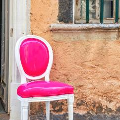 Hot Pink Chair Reupholster Swivel Office Photograph By Mike Valdez