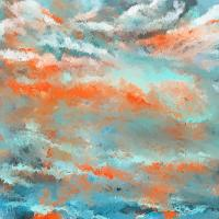Infused Energy- Turquoise And Orange Art Painting by ...