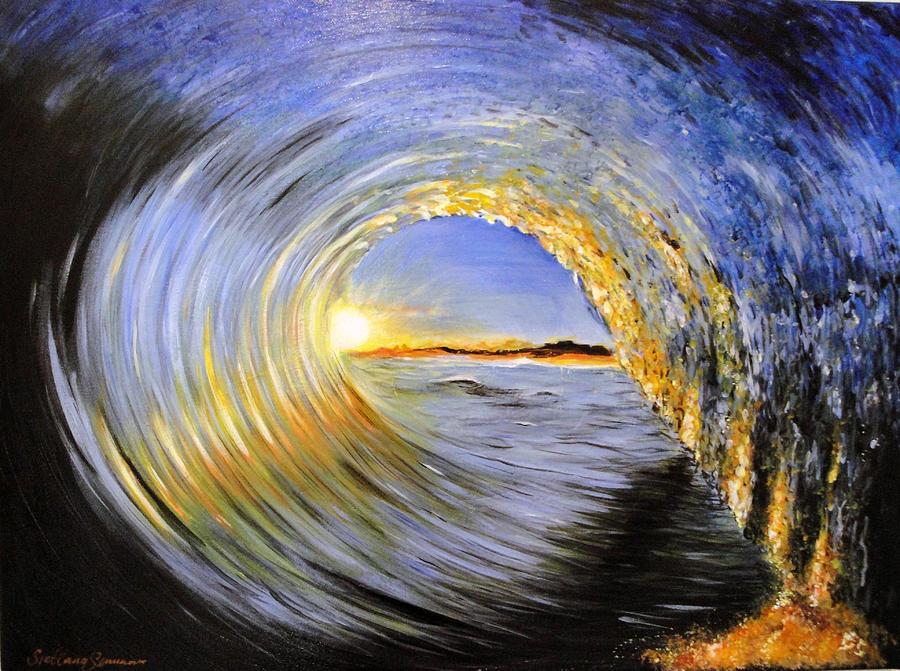 Iphone X Dimensions For Wallpaper 18 9 Inside The Wave Painting By Svetlana Semenova