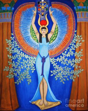 Isis - Aset Painting by Diveena Seshetta
