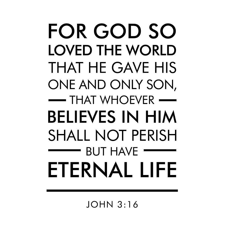 Download John 3-16 - Spiritual Wall Art - Bible Verses Art Digital ...