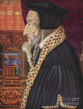 John Calvin Painting by German School