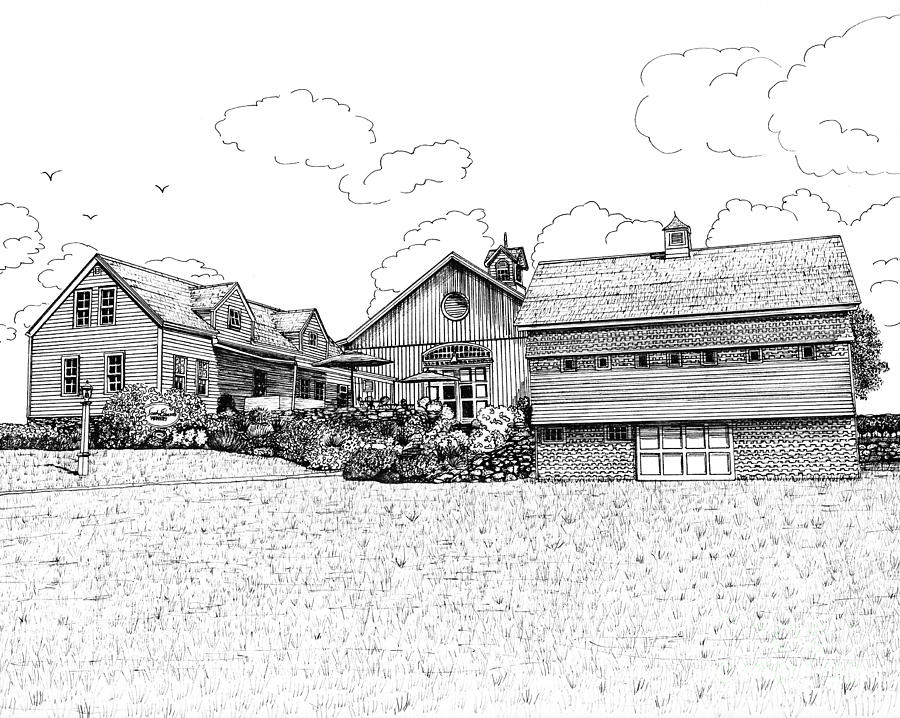 Jonathan Edwards Winery Drawing by Michelle Welles