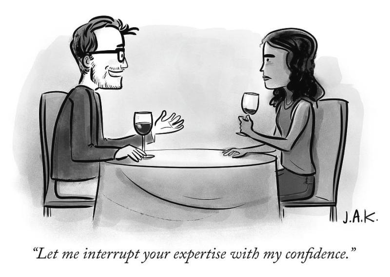 Let me interrupt your expertise with my confidence by Jason Adam ...