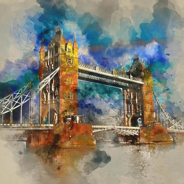 London Famous Places - Bridge Diana Van