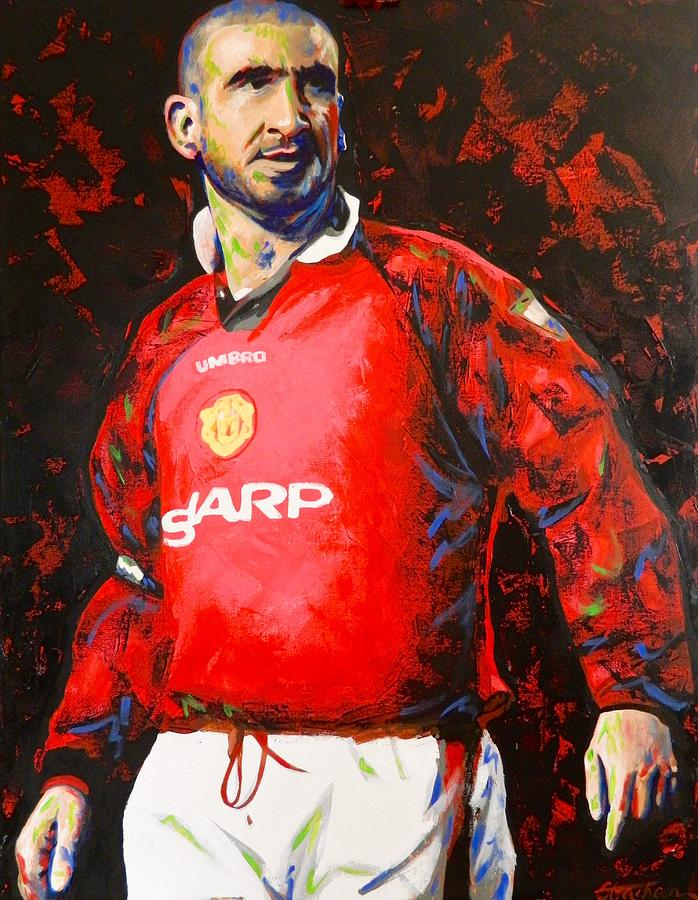 King eric played 143 games for man.utd. Manchester United Eric Cantona Painting Painting by Scott ...