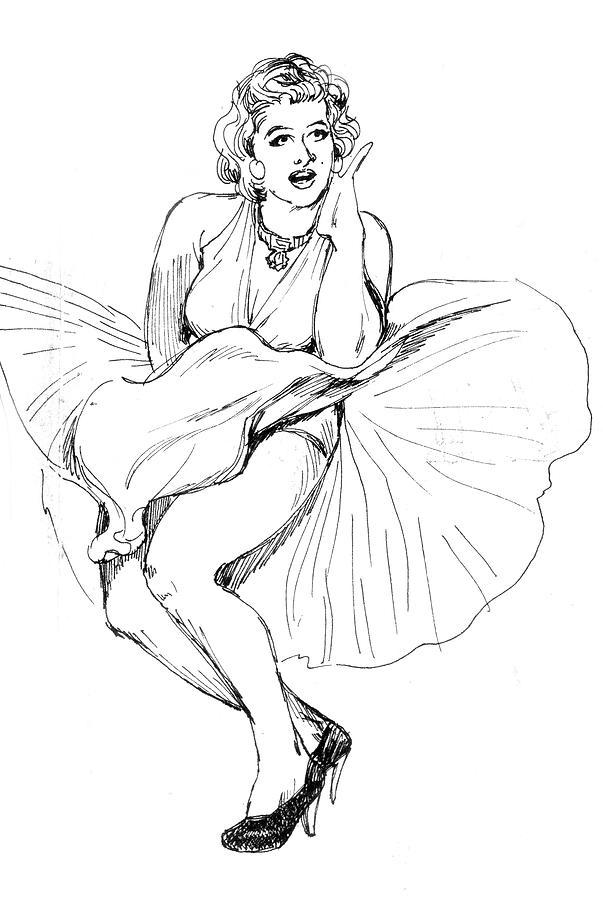 Marilyn Monroe Drawing by Abdul Rahim N S