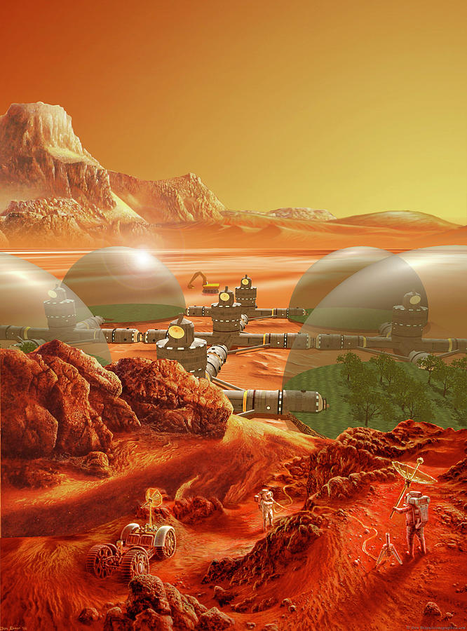 Mars Colony Painting by Don Dixon