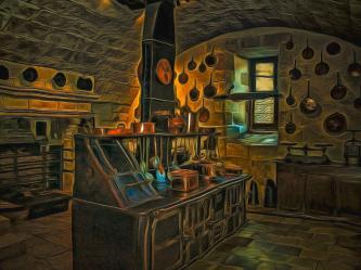 Medieval Kitchen Digital Art by Dan Mintici