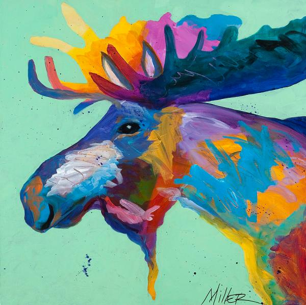 Abstract Moose Painting