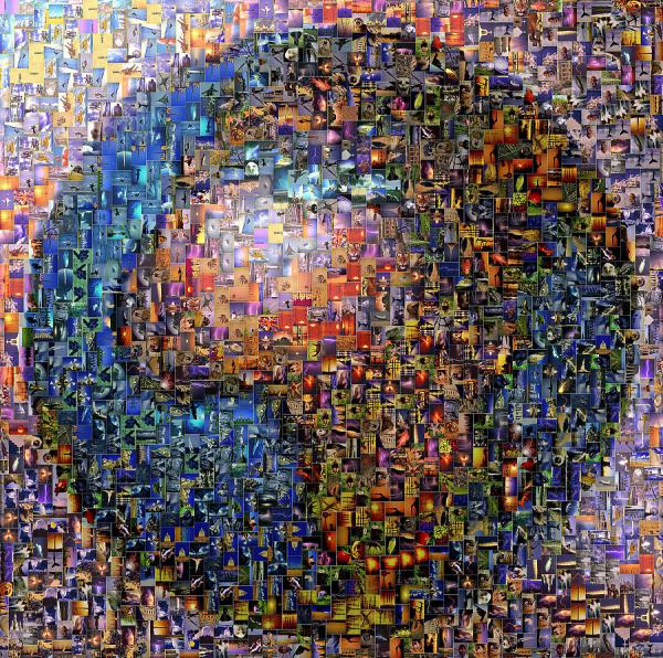 Mosaic Earth 2 Digital Art Yury Malkov