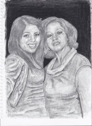 daughter mother drawing earl johnson drawings portrait 6th uploaded june which fineartamerica