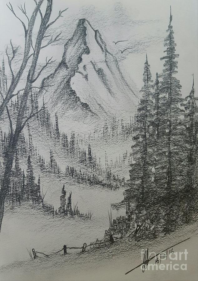 Mountain Pencil Drawing : mountain, pencil, drawing, Pencil, Drawings, Mountains, Pencildrawing2019
