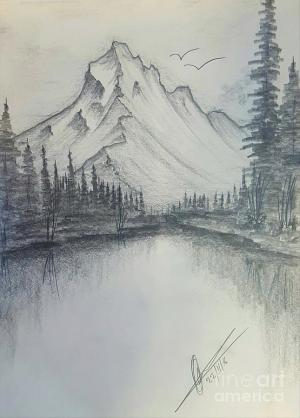 mountains drawing collin clarke drawings pencil 25th uploaded november which