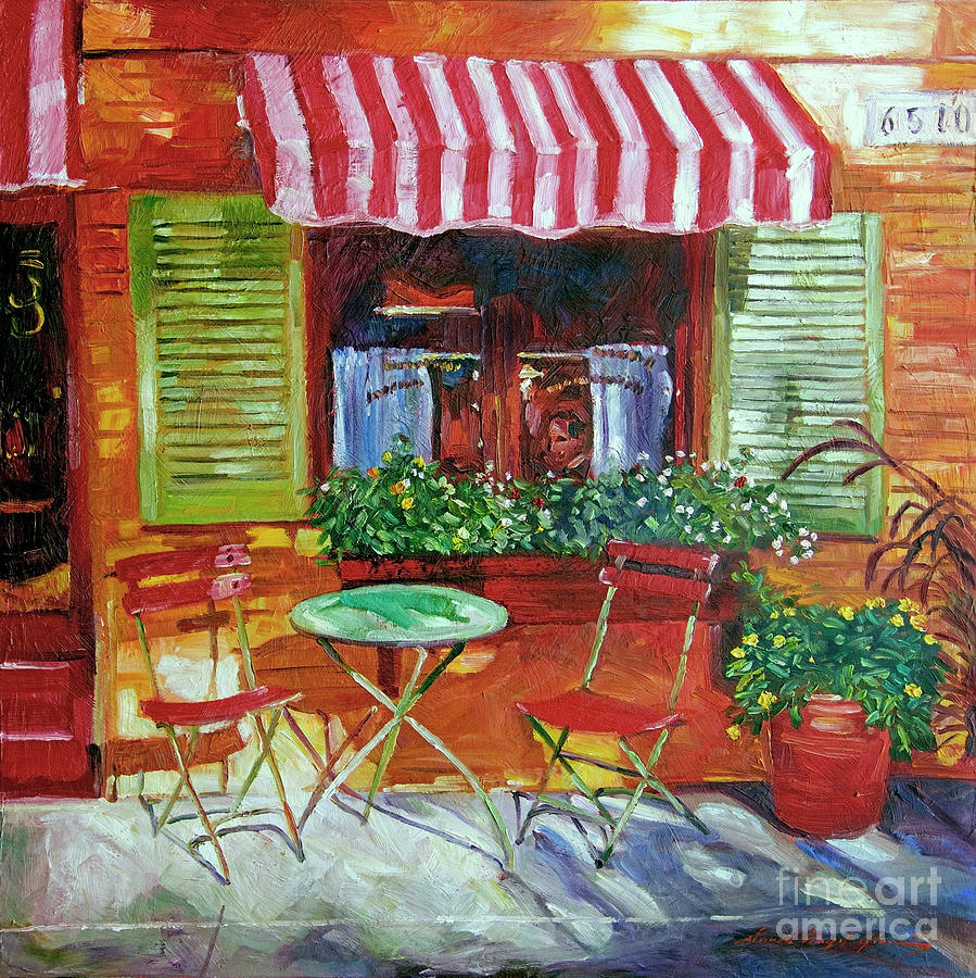 Napa Bistro Painting by David Lloyd Glover