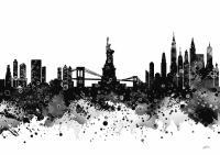 New York 2 Watercolor Print Digital Art by Svetla Tancheva