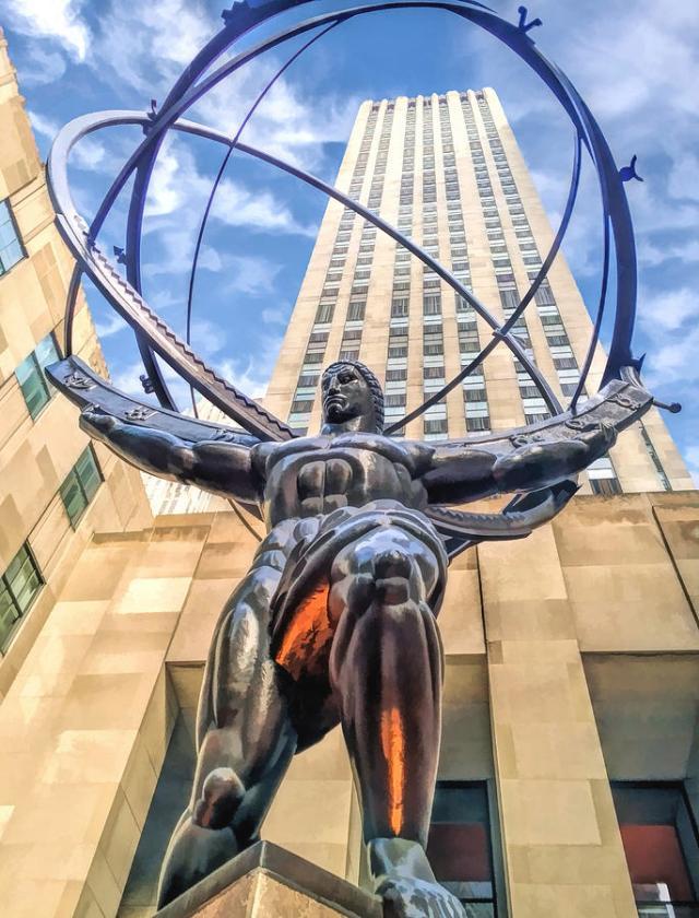New York Painting - New York City Rockefeller Center Atlas the Titan by Christopher Arndt
