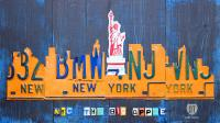 New York City Skyline License Plate Art Mixed Media by ...