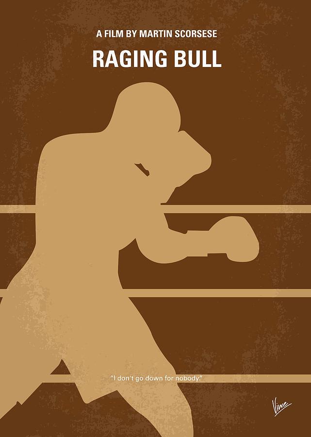 no174 my raging bull minimal movie poster by chungkong art