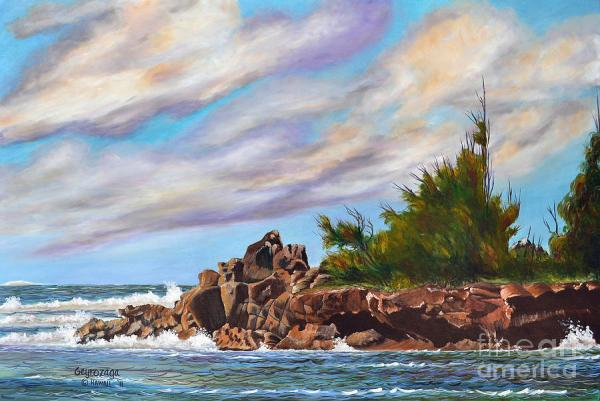 North Shore Oahu Painting by Larry Geyrozaga