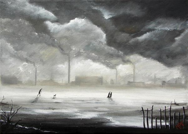 northern industrial landscape painting