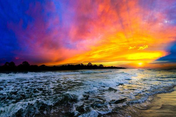 ocean sunset landscape