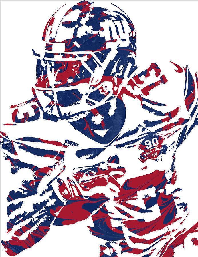 new york giants odell beckham jr poster