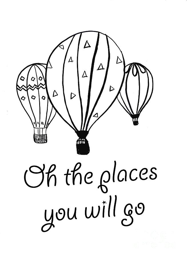 Oh The Places You'll Go Coloring Pages : places, you'll, coloring, pages, Places, Painting, Sweeping