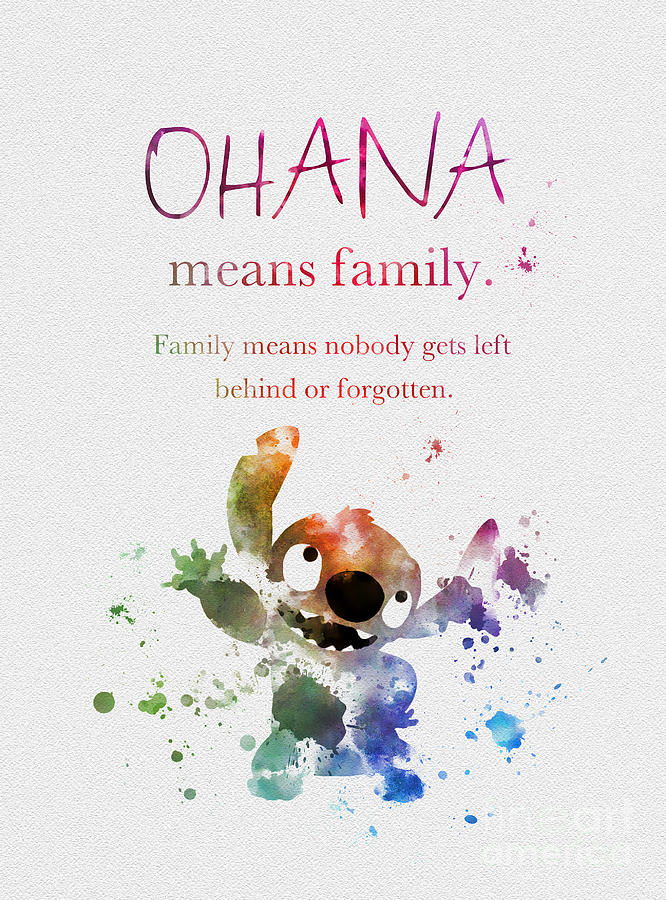 The Walking Dead Game Iphone Wallpaper Ohana Means Family Mixed Media By My Inspiration