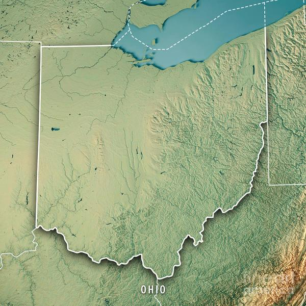 3d Topographic Map Of Usa.Ohio Topography Map Imgurl