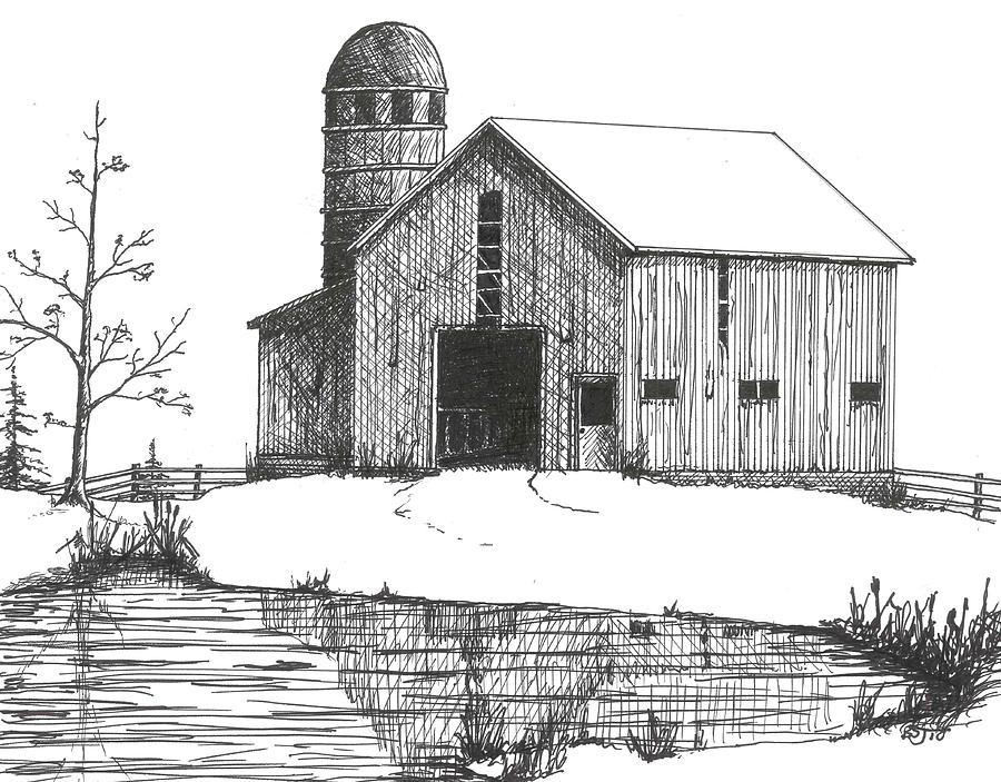 How Draw Old Barns