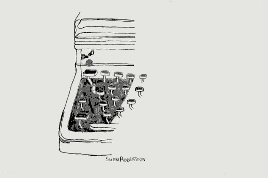 Old Manual Typewriter Drawing by Sheri Buchheit