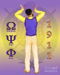 Omega Psi Phi Digital Art by BFly Designs