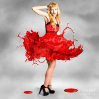 Paint Dress Pin-up Photograph by Jorgo Photography - Wall ...