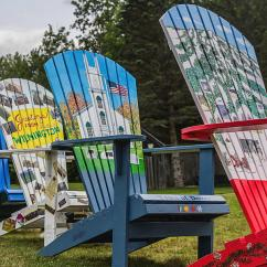 Painted Adirondack Chairs Modern Chair Design History Photograph By Suzanne Bauer Photography